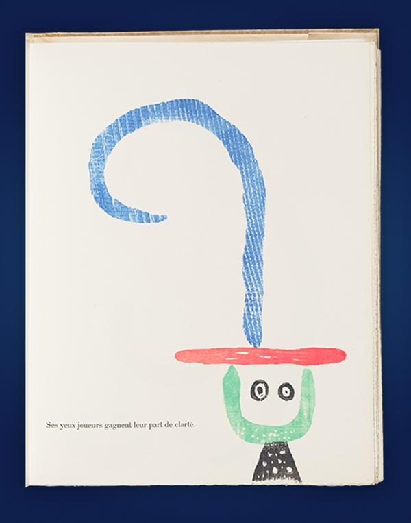 A page from the book À Toute Épreuve against a deep blue background.