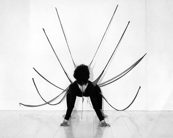 Senga Nengudi. Studio Performance with 'R.S.V.P.'. 1976.