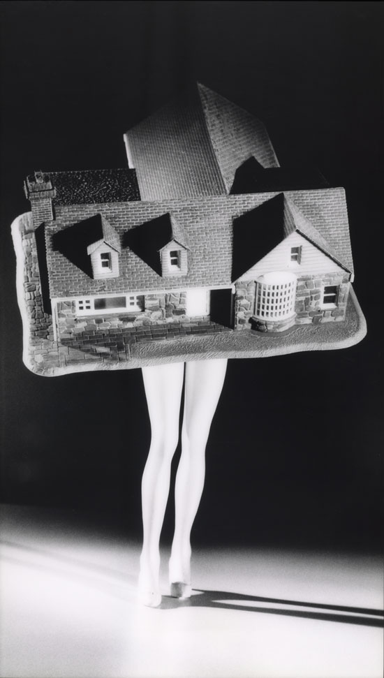 Laurie Simmons. Walking House. 1989, printed 1997. From the series 'Walking Objects.' The Baltimore Museum of Art: Given by the Board of Trustees and Staff in Honor of Arnold L. Lehman, Director, 1979‑1997, BMA 1997.130. © Laurie Simmons