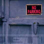 Blue_door_no_parking_card