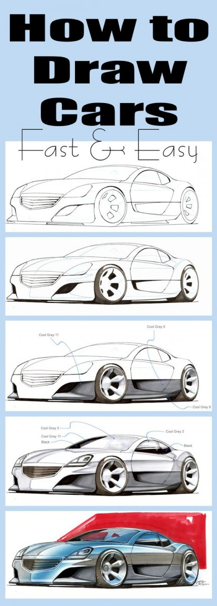 How To Draw Cars Fast And Easy Ebook