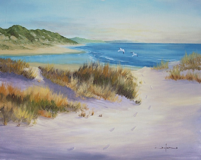 How To Paint Sand Dunes On The Beach In Oil Art By Nolan