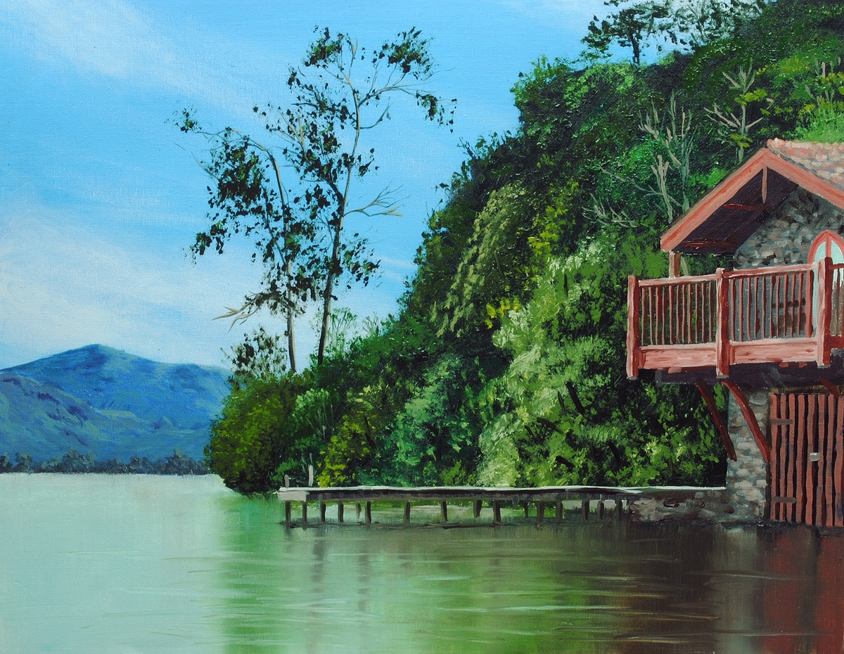 How to paint a boathouse