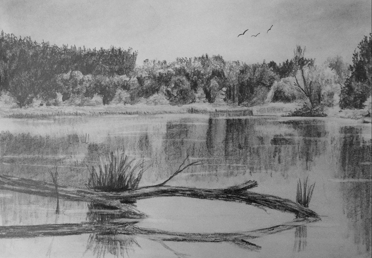 How to draw reflective water