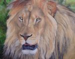 How to paint a Lion using texture paste