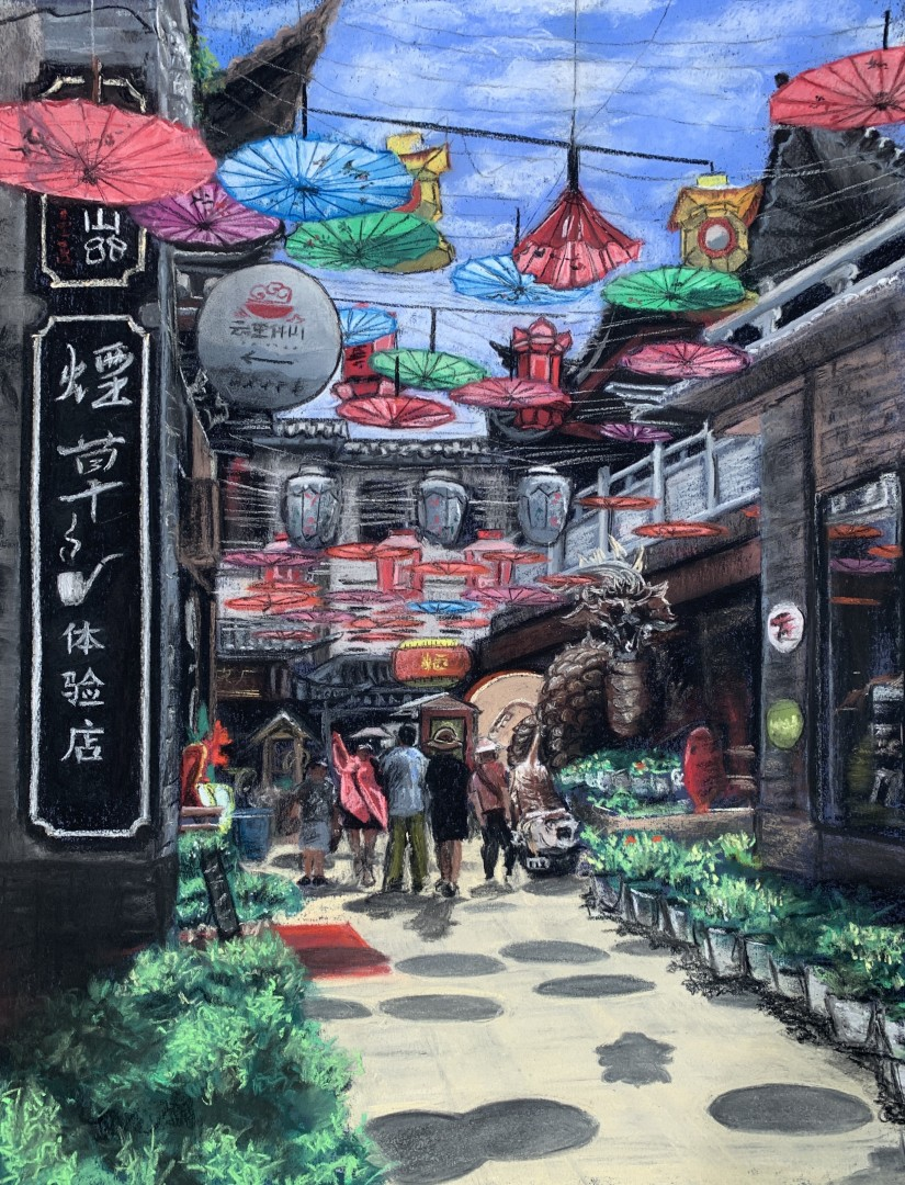 Chinese Street Shops