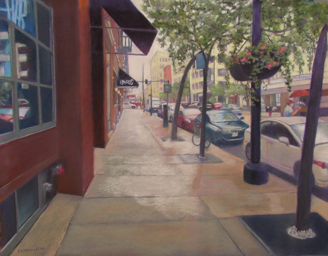 Coffee Shop Sidewalk 8 AM