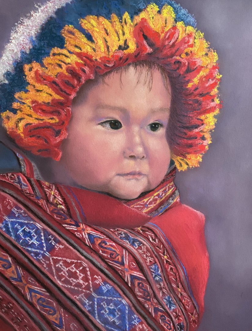 People of Peru - Wrapped Baby