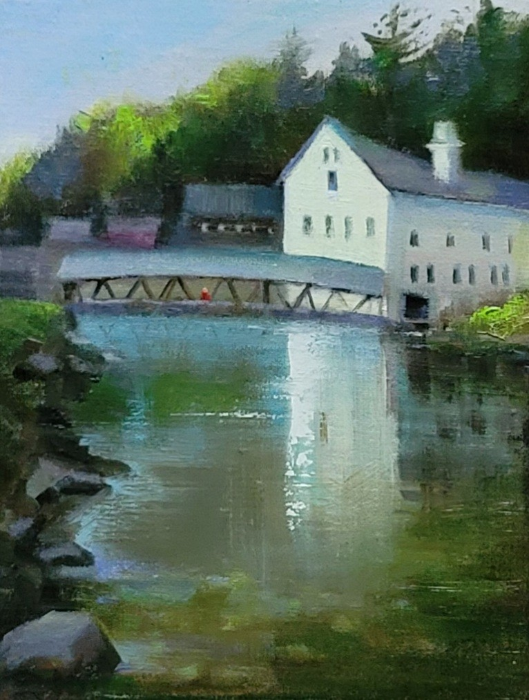 """Reflection of Livery Bld"" Sunapee ,NH"