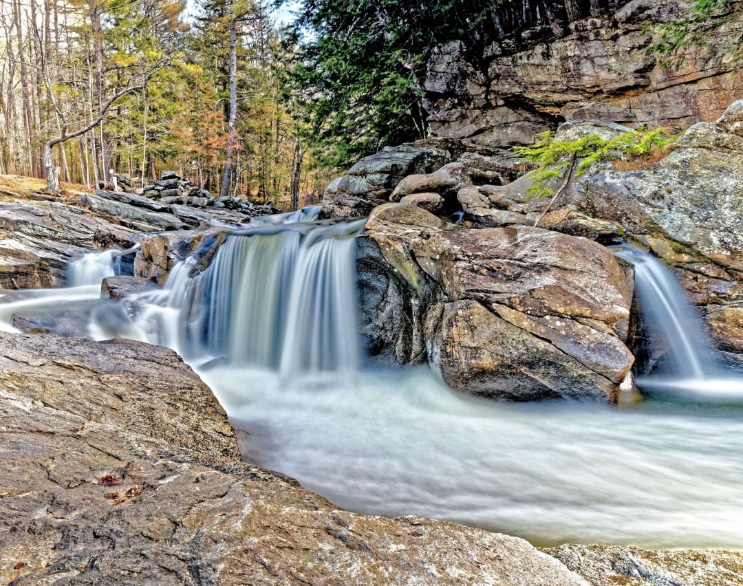 Pollard Mills Falls, Newport, NH, photography