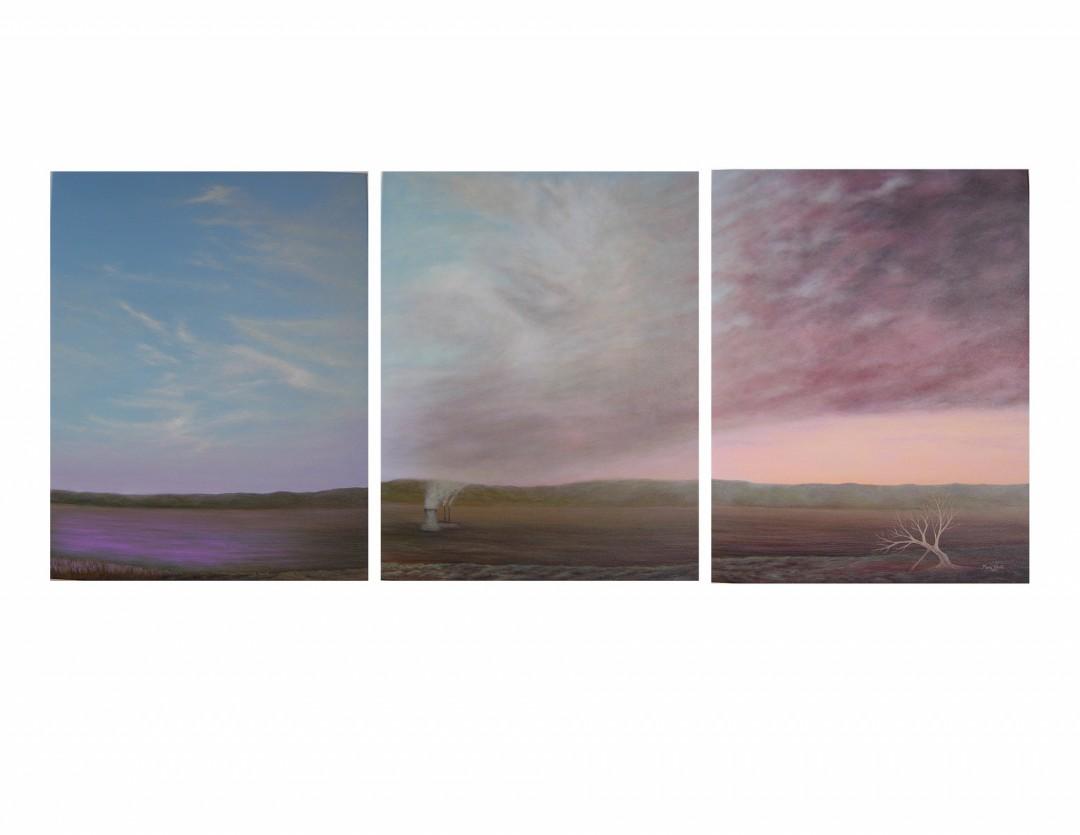 """""""Breathing"""" - (triptych - 66"""" x 28"""")"""
