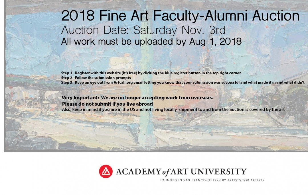 Academy of Art University Fine art facullty/Alumni Auction 2018
