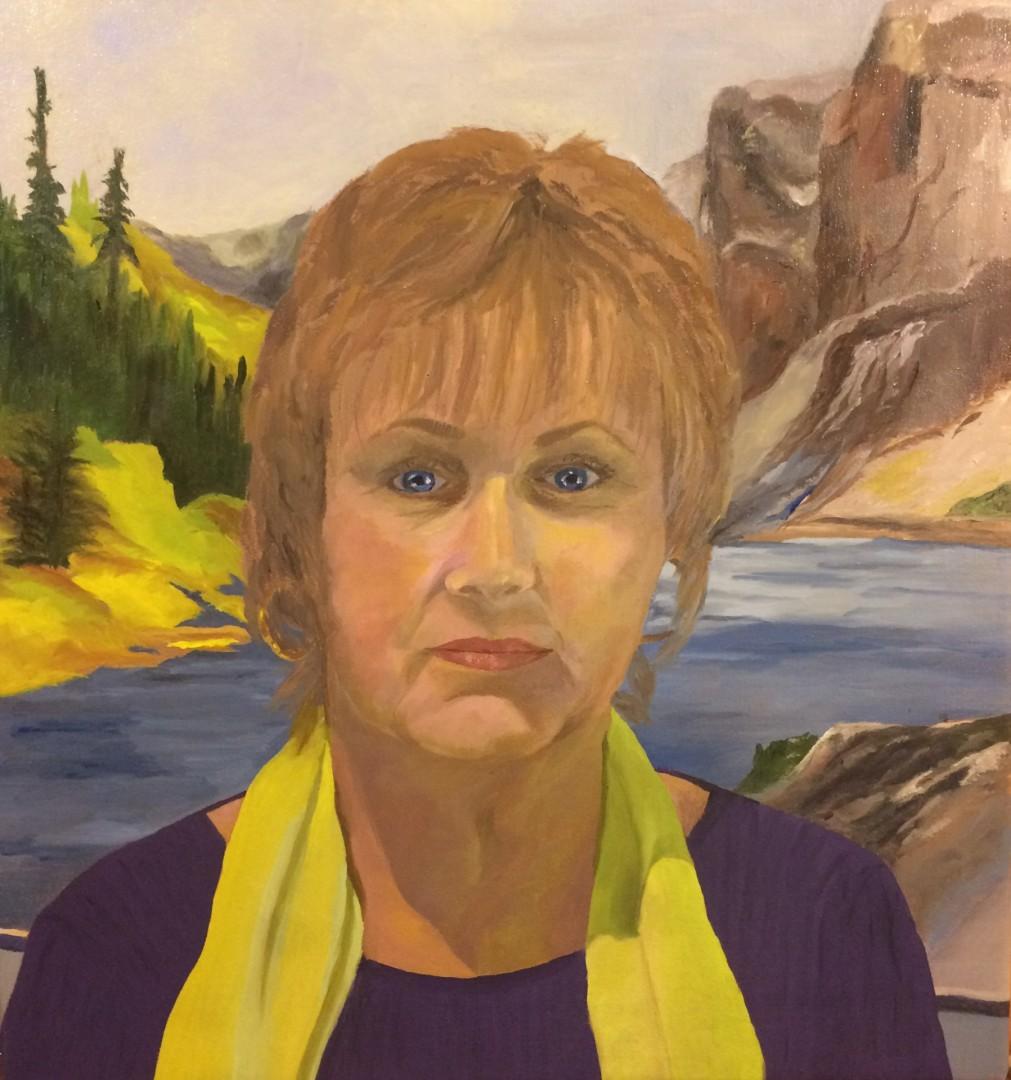 Portrait of Paula, Watercolorist