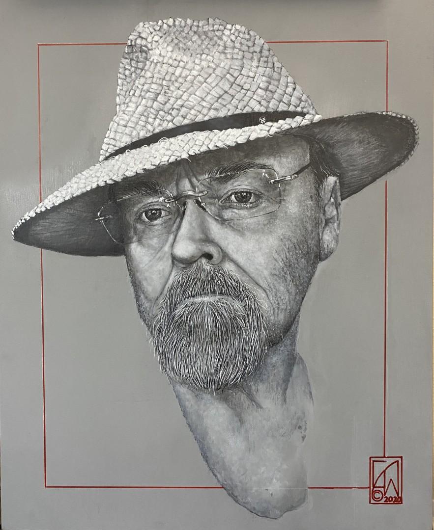 Self Portrait, Artist in Gray