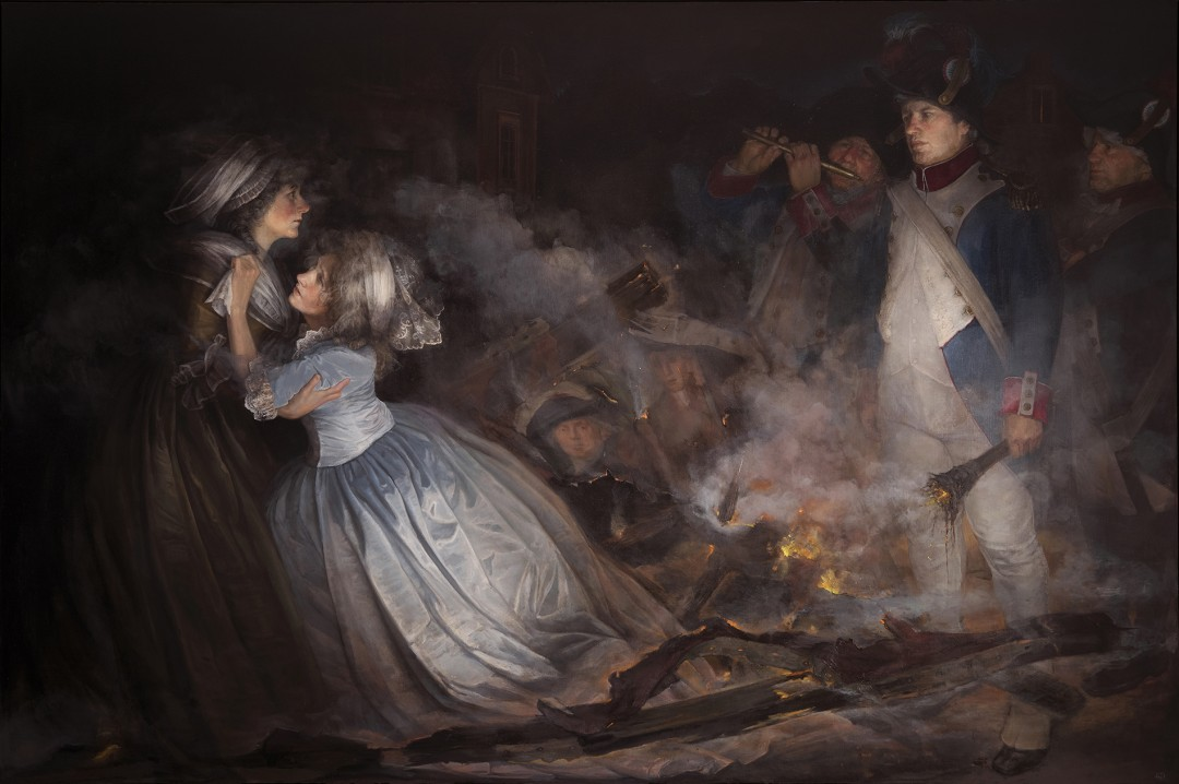 """""""The Burning of Adelaide Labille Guiard's Masterpiece (Self-Portrait)"""