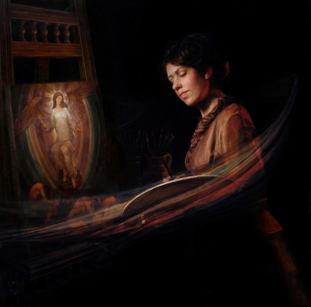 Homage to Evelyn De Morgan (Self-Portrait)