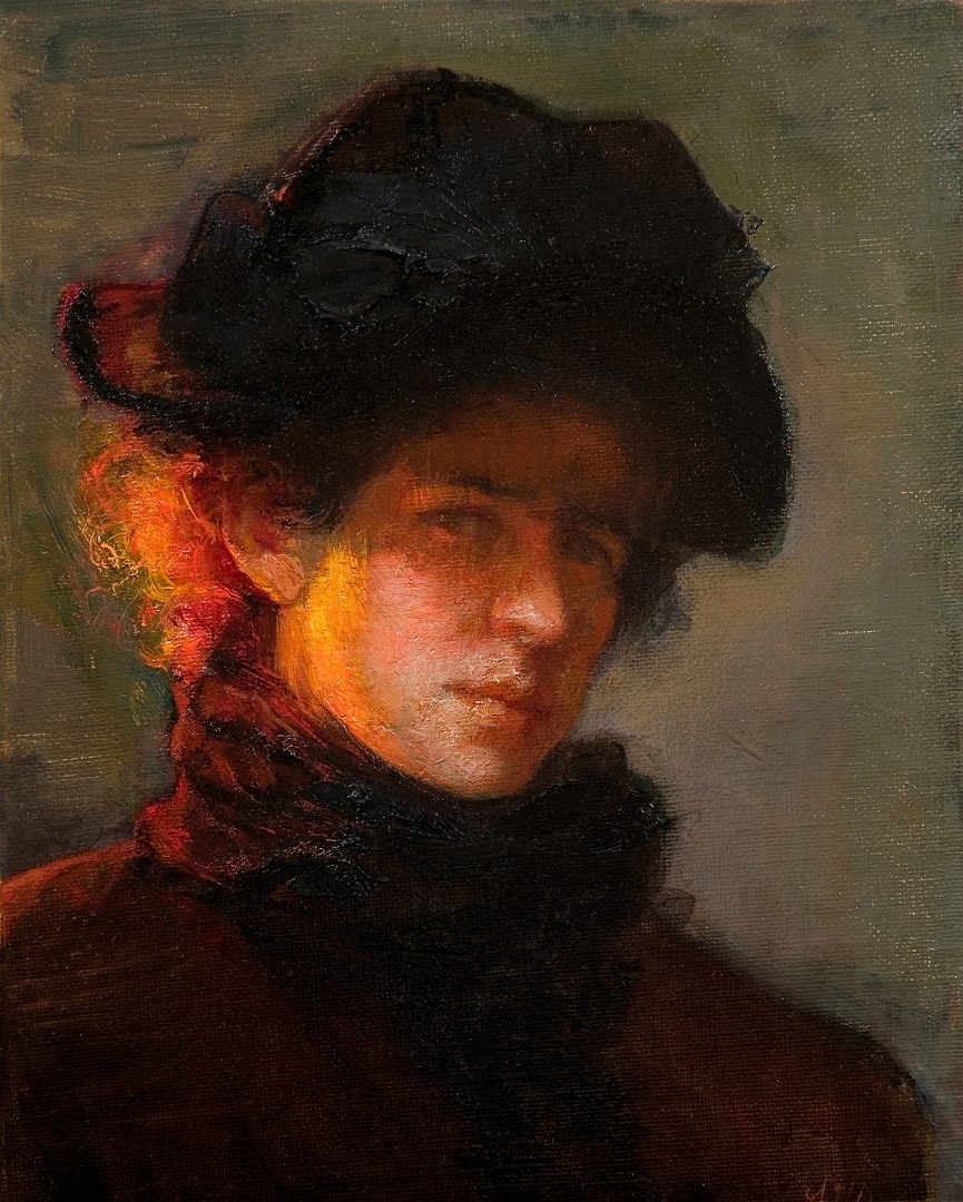 Homage to Lilla Cabot Perry (Self-Portrait)