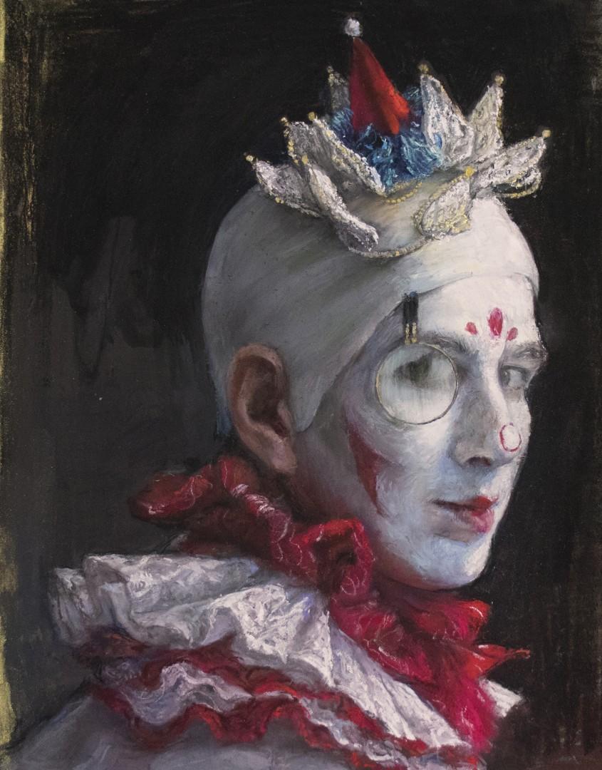 Clown with Monocle (Self-Portrait)