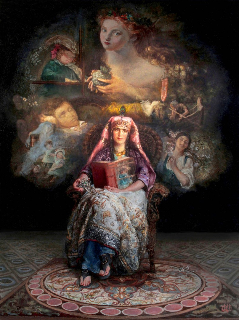 The Storyteller -Homage to Sophie Gengembre Anderson