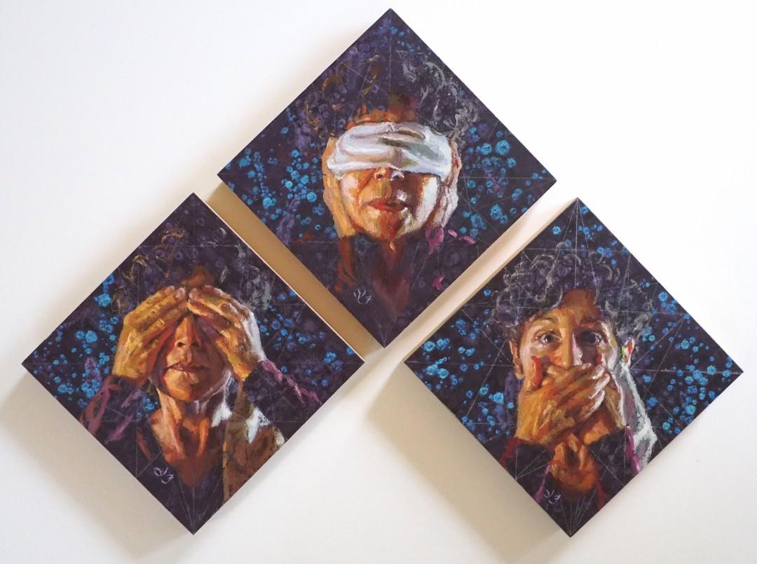 3 Monkeys: triptych