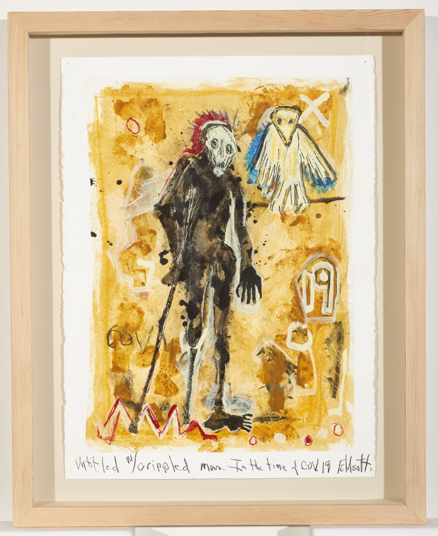 Untitled with Crippled Man In the Time of COV. 19