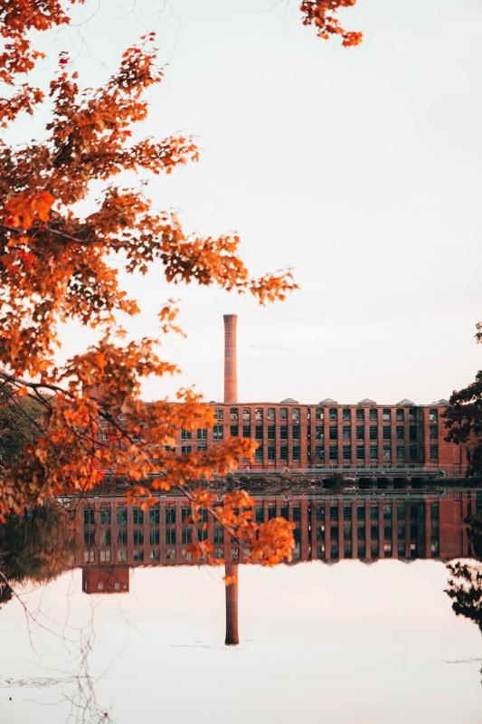 Hopedale Pond Reflection