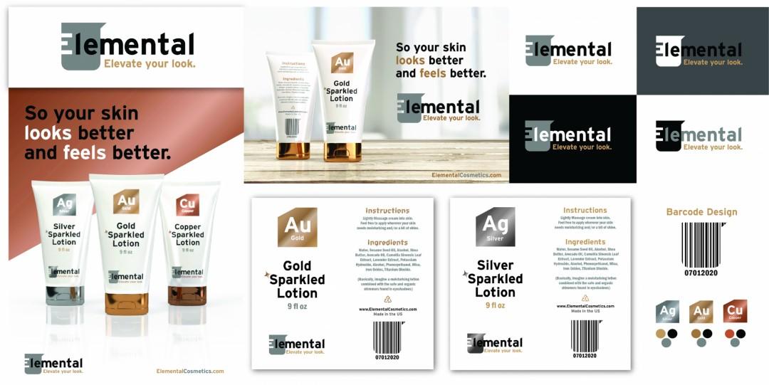 Elemental Cosmetics Branding