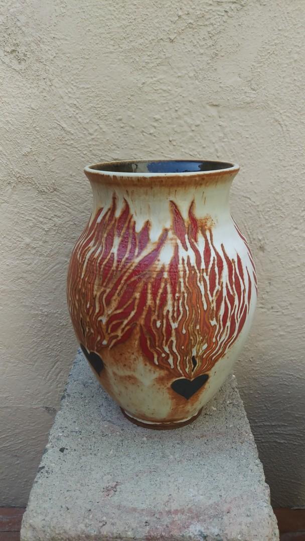 Burning Hearts Vase