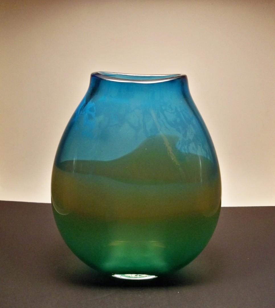Large Landscape Series Flat Sided Vase
