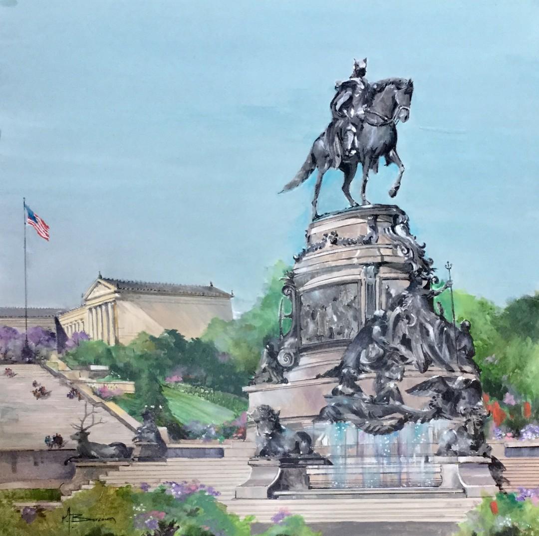 George Washington Fountain at the Philadelphia Museum of Art