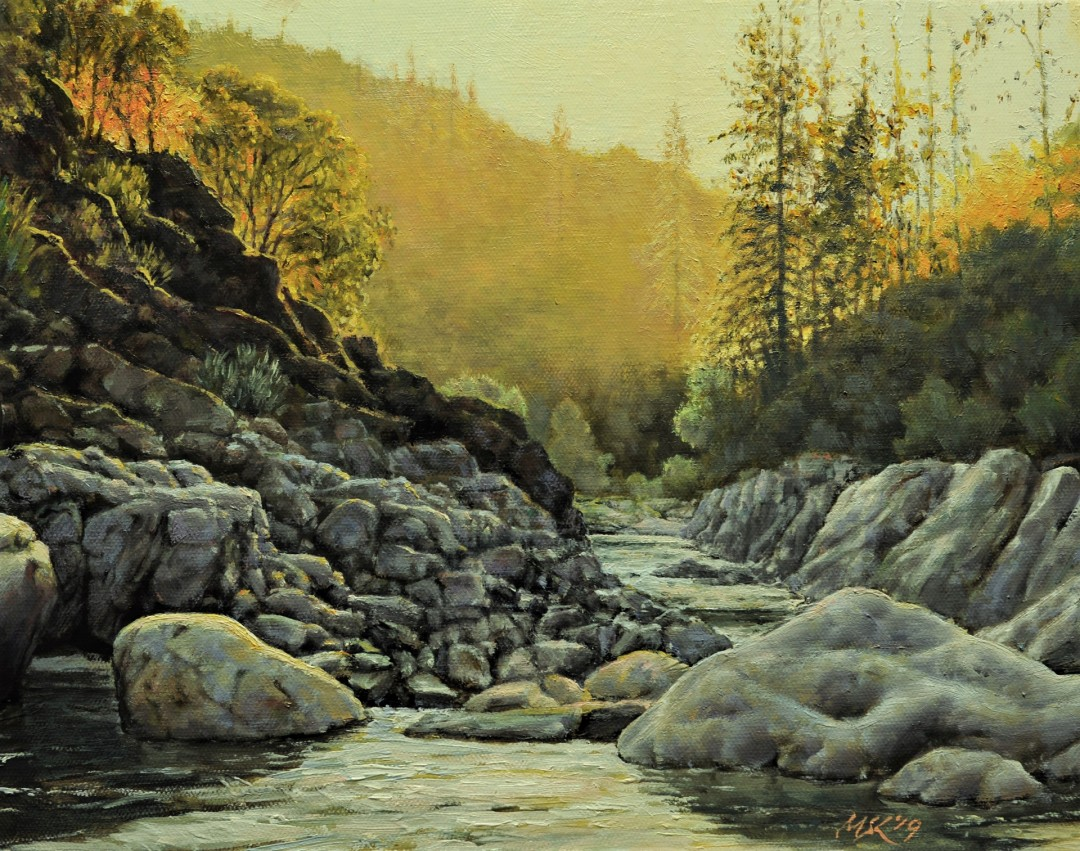 Sunset at the Creek of Yuba River