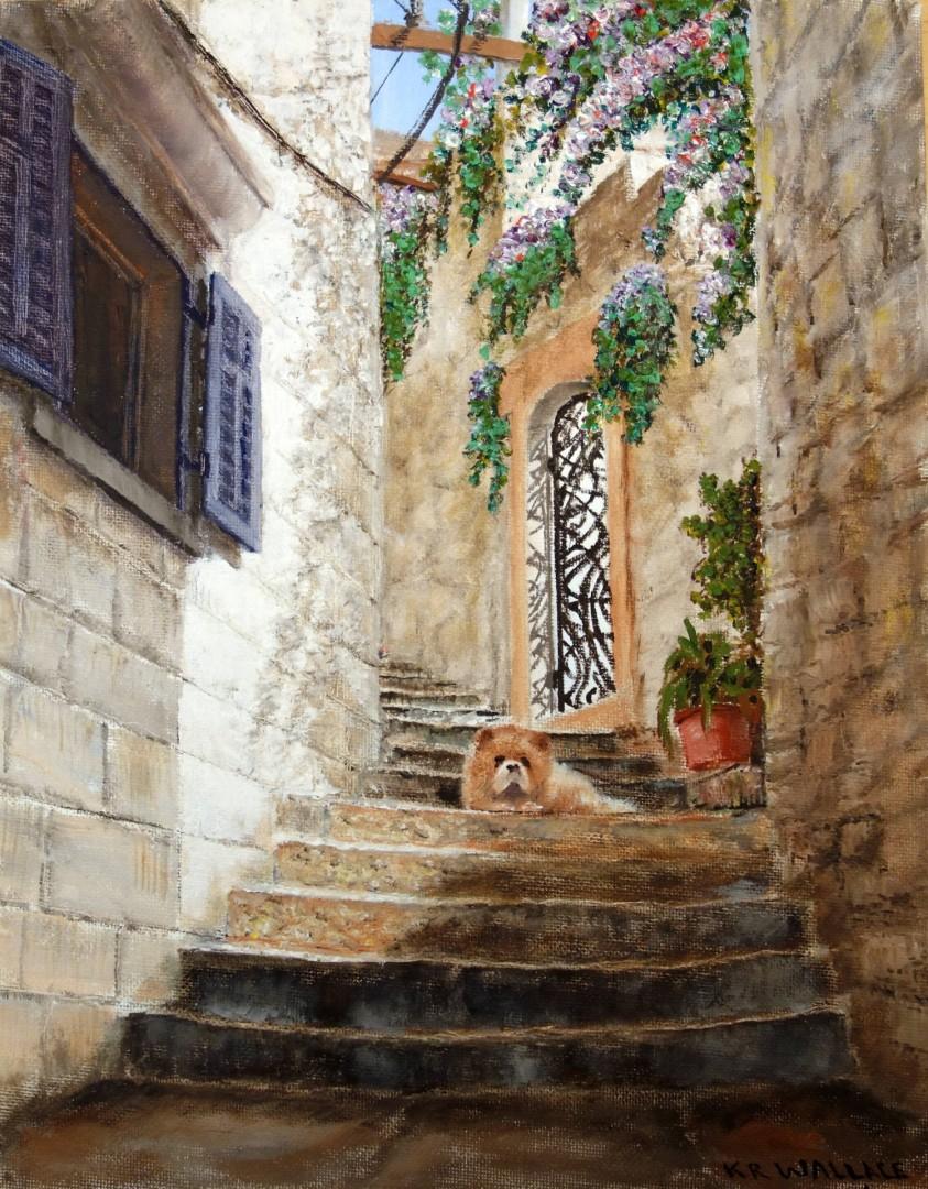 guard dog in Cavtat, Croatia