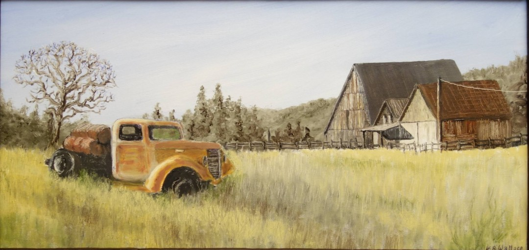 Old Truck and barn in Fall River Mills Ca.