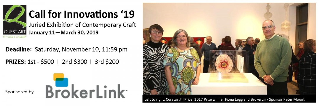 Quest Art's 2019 Innovations Juried High Craft Exhibition