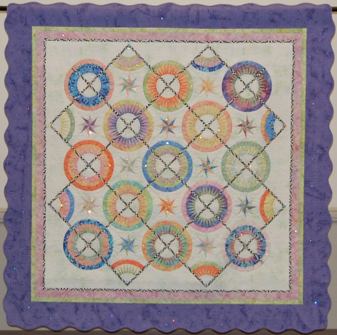 Pinwheels and Lollipops, Machine Quilting