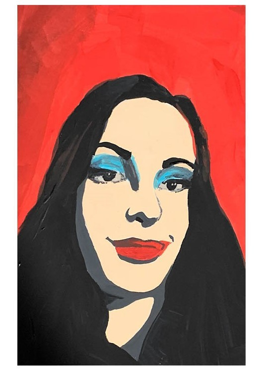 Warhol Inspired Self Portrait