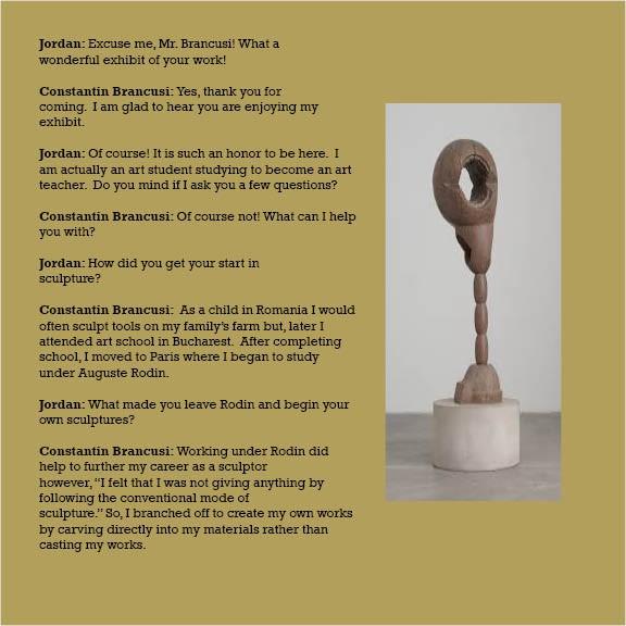 A Dialogue With Constantin Brancusi