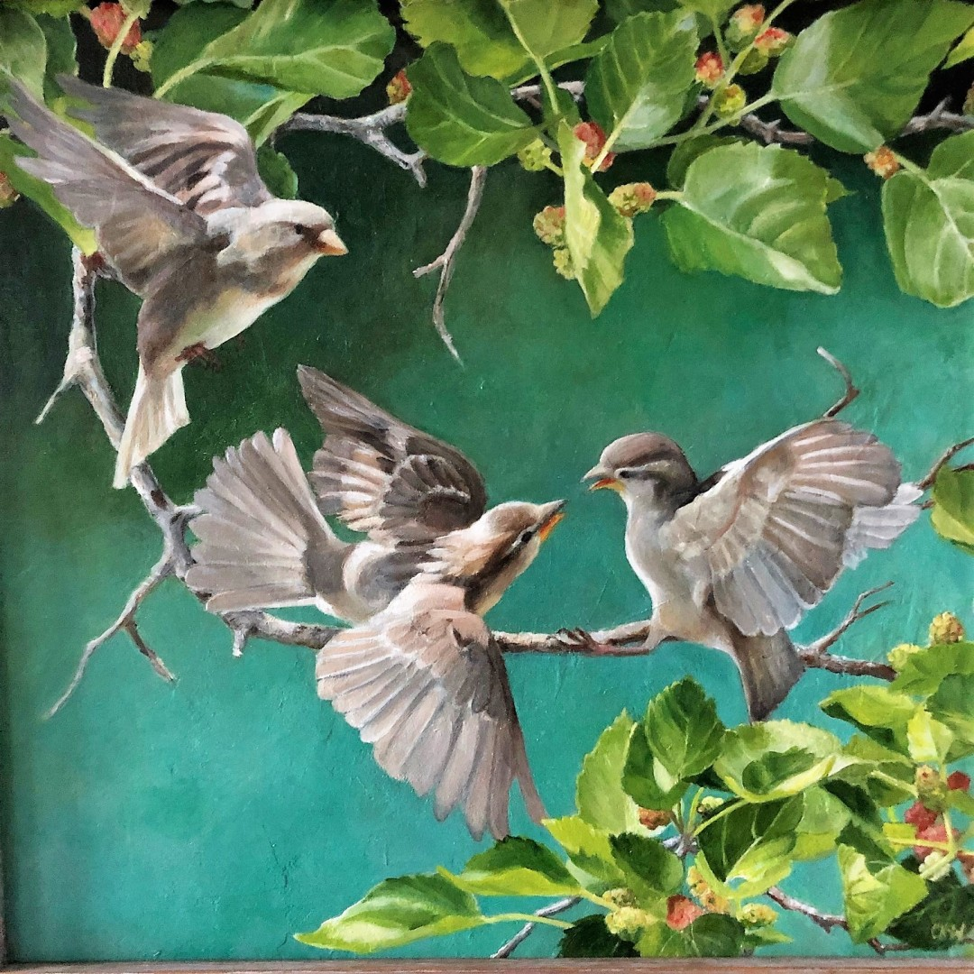 Sparrows in the Mulberry
