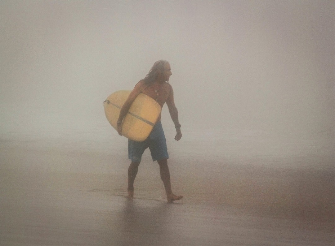 Surfer in the Fog