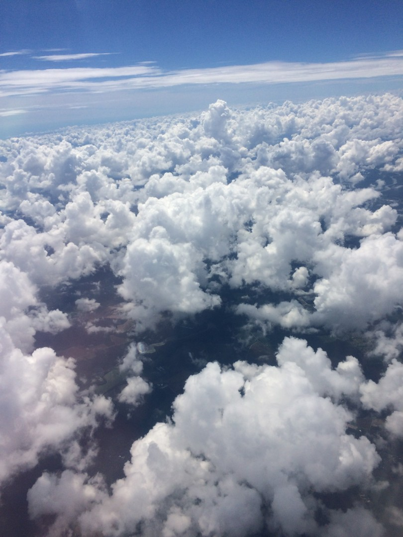 Aerial View of Blue Sky and Clouds