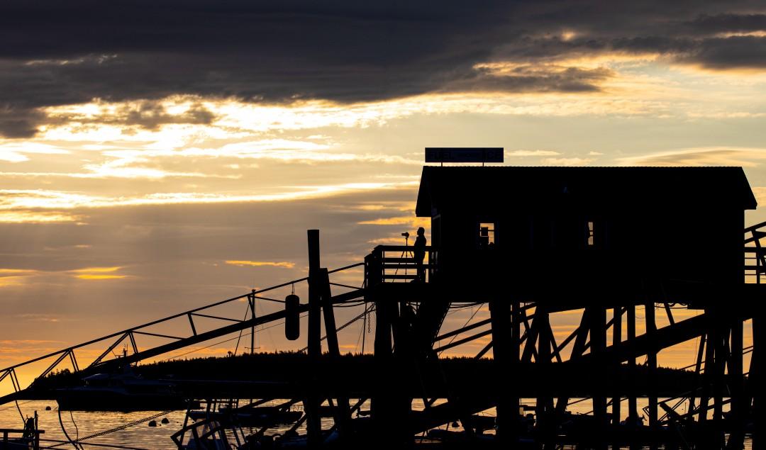 Sunrise photography over Southwest Harbor