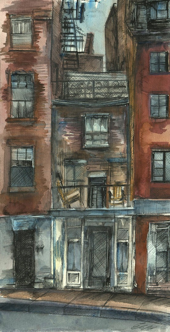 """""""A Skinny Building, Beacon Hill"""""""