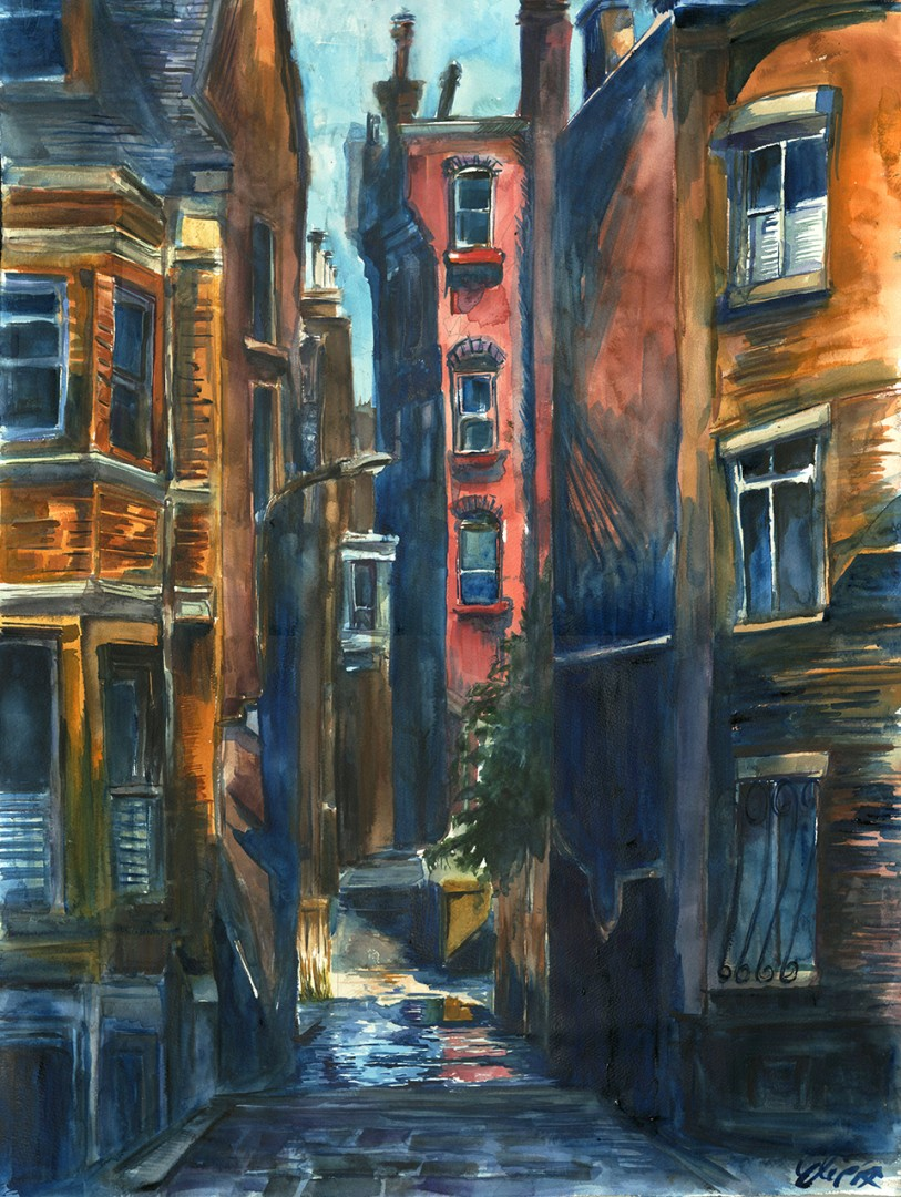 """""""A Cold November Morning in Boston's South End, Alley 516"""""""