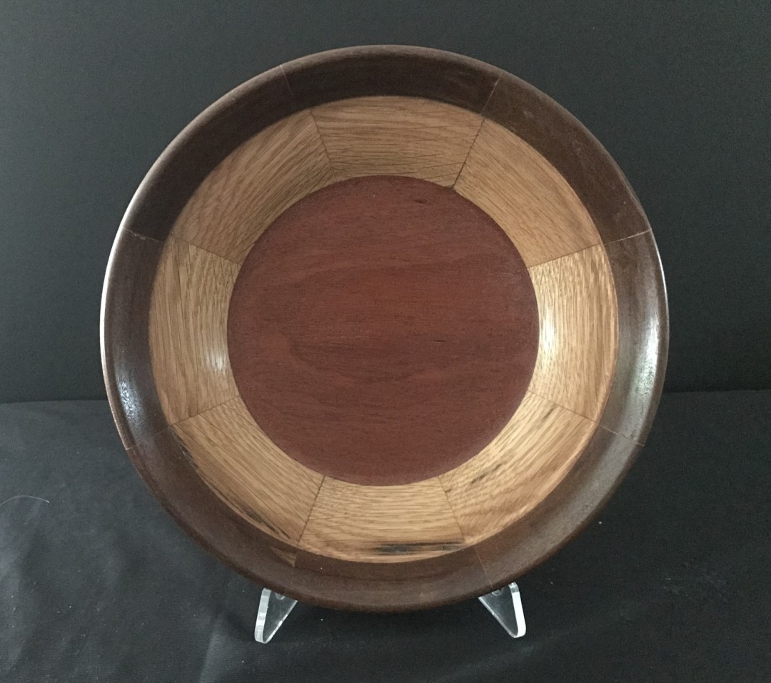 Wood Turned Segmented Bowl