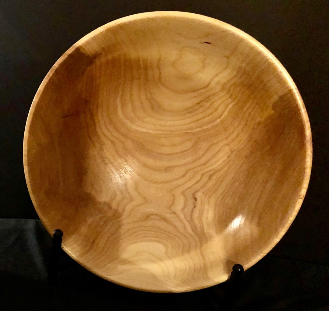 Wood-Turned Elm Bowl
