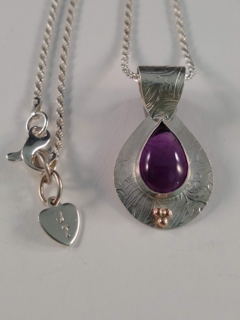 Sterling, amethyst necklace