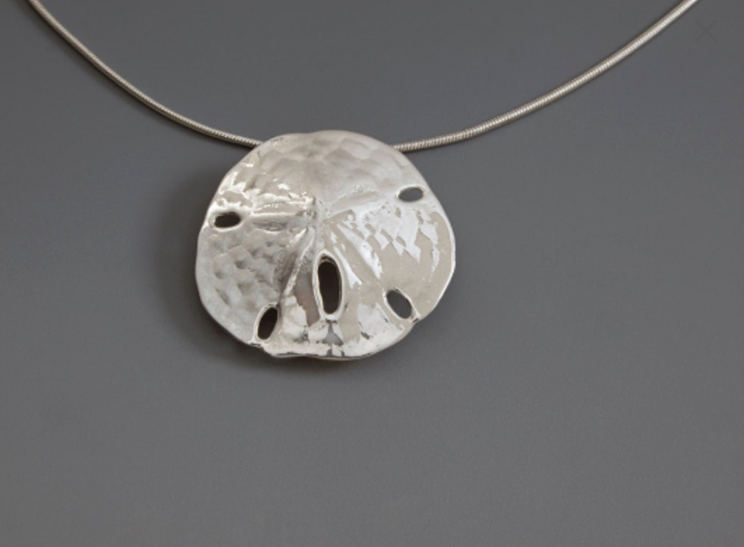 Sanddollar Necklace -handmade- sterling silver