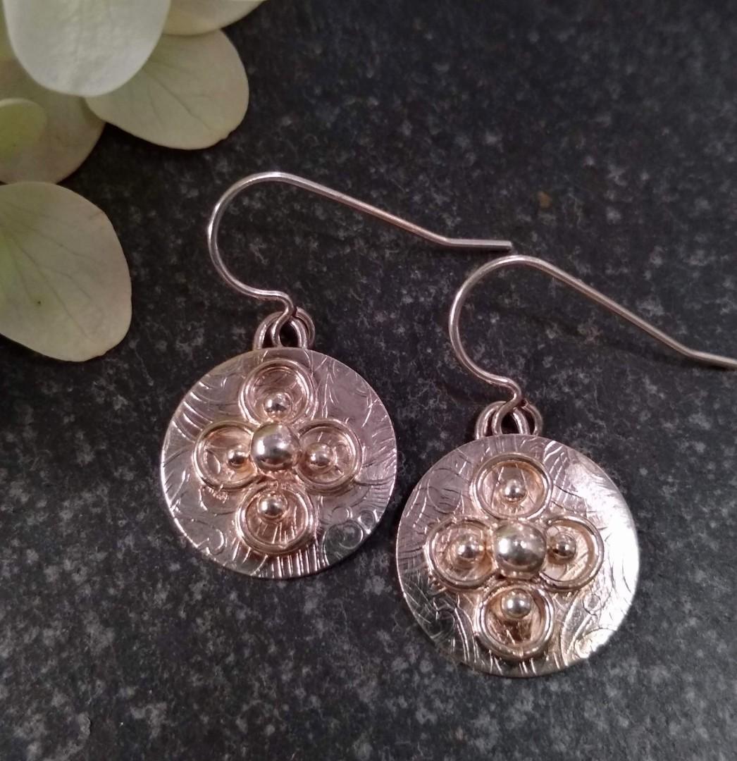 Sterling circle earrings