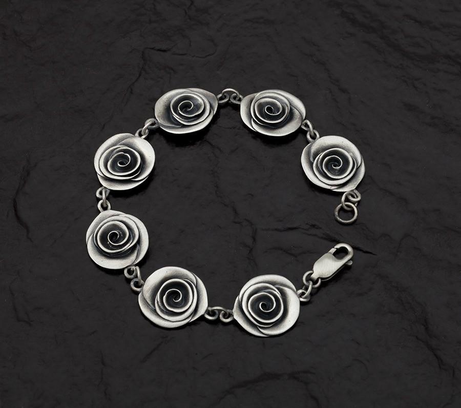 Rose  Bracelet -handmade- sterling silver