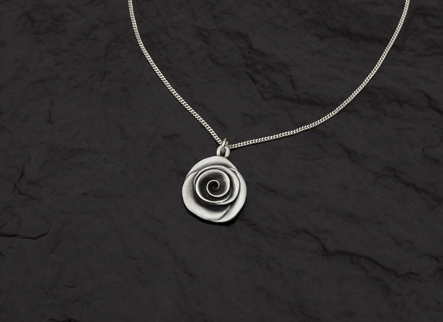 Rose Necklace -handmade- sterling silver